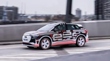 Audi Q4 e-tron prototype - side action