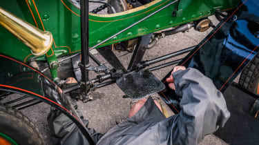 London to Brighton Veteran Car Run  -  fixing Vauxhall