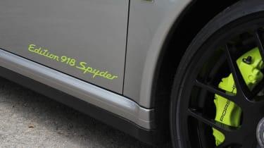 Porsche 911 Edition 918 Spyder badge