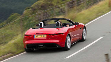 Jaguar F-Type Convertible 2.0-litre 4-cylinder - rear tracking