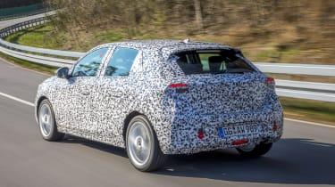 Vauxhall Corsa testing - rear