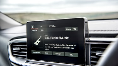 New Kia Ceed infotainment screen