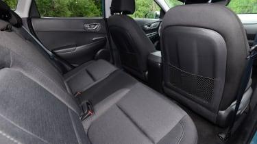 Hyundai Kona electric interior rear seats
