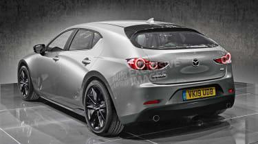 New Mazda 3 - rear (watermarked)
