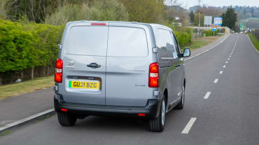 Toyota Proace Electric van - tracking rear