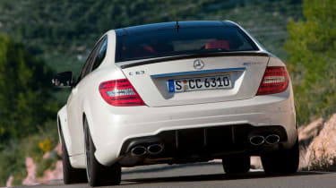 Mercedes C63 AMG Coupe rear cornering