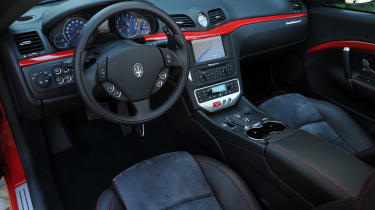 The interior is very luxurious with the use of fine leathers and wood covering almost all surfaces.