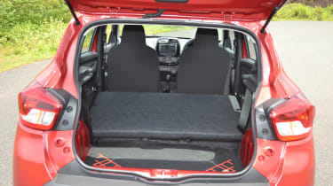 Renault Kwid - boot space seats down