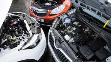 Skoda Yeti vs rivals - engines