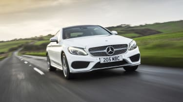 Mercedes C-Class Coupe - front tracking