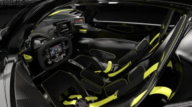 Aston Martin Valkyrie AMR Track Performance Pack Stirling Green and Lime - interior