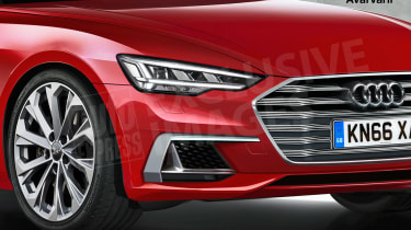Audi A6 exclusive image (watermarked) - front detail