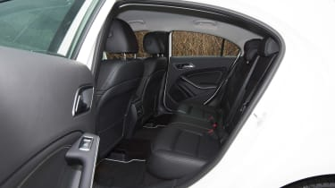 Mercedes A200d rear seats