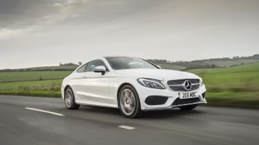 Mercedes C-Class Coupe C250d AMG Line - front tracking