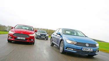 Volkswagen Passat vs Mazda 6 vs Ford Mondeo