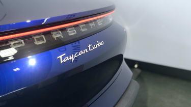Porsche Taycan - reveal rear badge