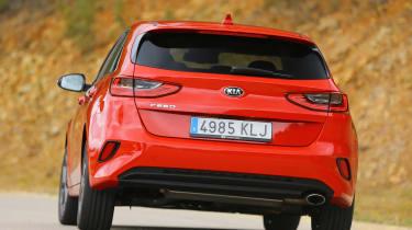 Kia Ceed - rear cornering