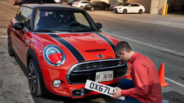 MINI front number plates