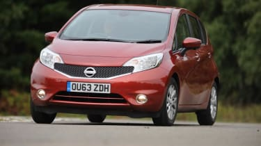 Used Nissan Note Mk2 - front cornering