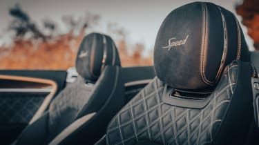 Bentley Continental GT Speed Convertible - seat detail