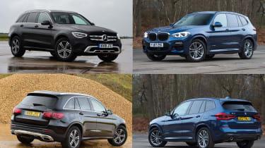 BMW X3 vs Mercedes GLC | Auto Express