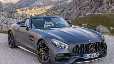 Mercedes-AMG GT C Roadster - grey front quarter