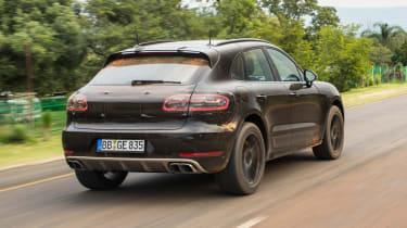 Porsche Macan 2018 prototype rear tracking