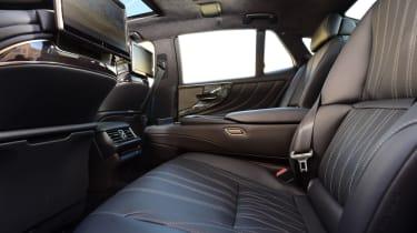 Lexus LS 500h 2018 review - rear legroom