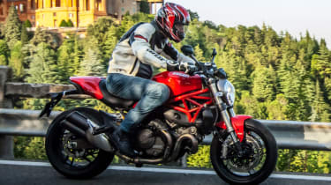 Ducati Monster 821 review - road side profile