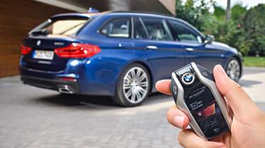 New BMW 5 Series Touring - key