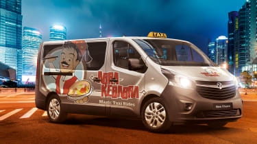 """<p class=""""p1"""">As well as the two gas-fired spit rotisserie grills, the modified Vivaro is said to have salad bowls integrated into the arm rests, chilli dispensers and of course a tasty selection of sauces.&nbsp;</p>"""