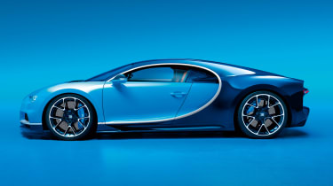 Bugatti Chiron - side