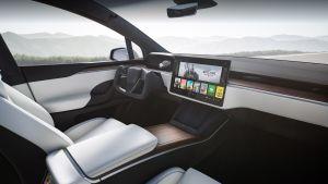 Tesla Model X facelift - dash