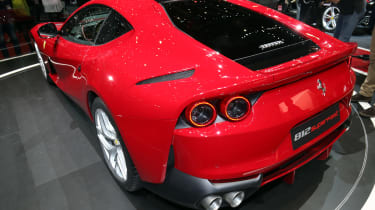 Ferrari 812 Superfast Geneva - rear above