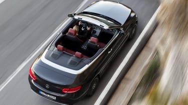 New Mercedes C-Class Cabrio - overhead