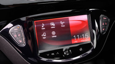 The Adam comes with plenty of standard kit, but the&nbsp;<span>IntelliLink touchscreen&nbsp;</span><span>infotainment system is a £275 extra though. This will allow owners to<span>&nbsp;you upload various music and sat-nav apps.</span>