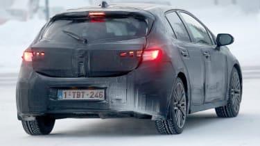 Toyota Auris spy shot 2018 rear