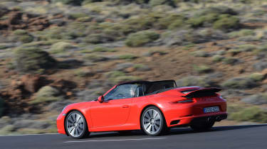 Porsche 911 S Carrera 2015 rear tracking red