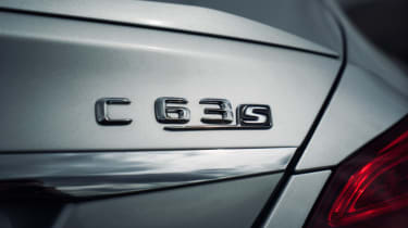 Mercedes C63 AMG saloon - badge rear