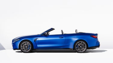 BMW M4 Competition Convertible - side roof down