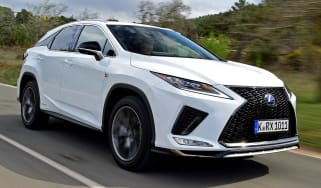 Lexus 450h F Sport - front tracking