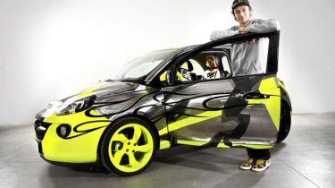 Valentino Rossi and his Opel Adam