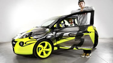 Valentino Rossi and his Opel Adam