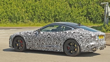 Jaguar F-Type facelift spy shot rear quarter