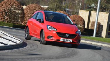 Vauxhall Corsa Red Edition - front cornering 2