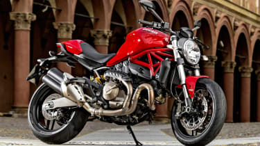 Ducati Monster 821 review - red front