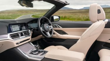BMW M440i Convertible - front seats