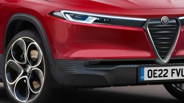 Alfa Romeo baby SUV - front detail (watermarked)
