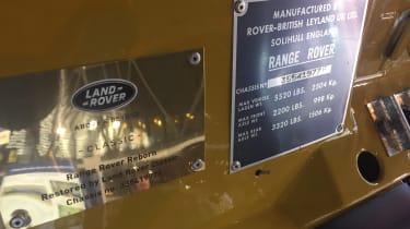 Range Rover Reborn plaques - Retromobile