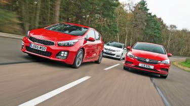 Kia Cee'd vs Vauxhall Astra vs Citroen C4 - group test